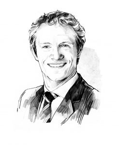 Dr. Michael Lierow, partner at Oliver Wyman in Munich [Illustration: André Gottschalk for Delivered., DHL]