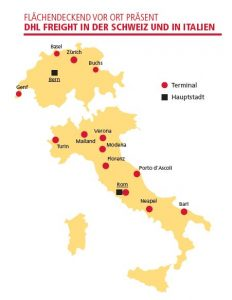 Permanent establishments of DHL Freight in Switzerland and Italy [Illustration: DHL]