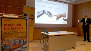 Industry 4.0 was the focal topic of the customer workshop during the transport logistic trade fair. [Photo: DHL]