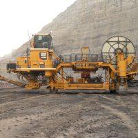 A Caterpillar mining machine