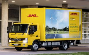 Electric trucks like the FUSO eCanter are going to dominate the streetscape in ever growing numbers. [Photo: DHL]