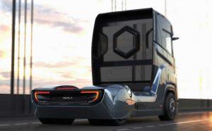 Der Nikola Tre soll mit einer Tankfüllung bis zu 1.200 Kilometer weit fahren. [Foto: Nikola Motor Company]