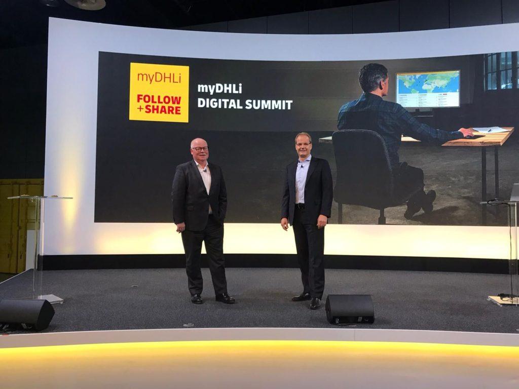 Der weltweite myDHLi Digital Summit mit Uwe Brinks (links) und Tim Scharwath bildete den Auftakt zu einer Reihe digitaler Events zur Zukunft der Logistik.